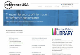 Reference USA home page