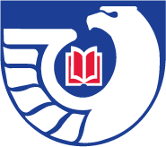Eagle with its wing around a book